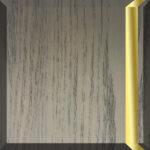 Brushed Grey Oak & Satin Brass